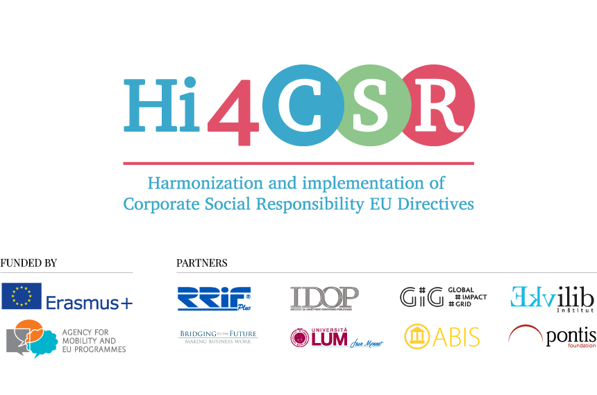Hi4CSR on project partners' websites